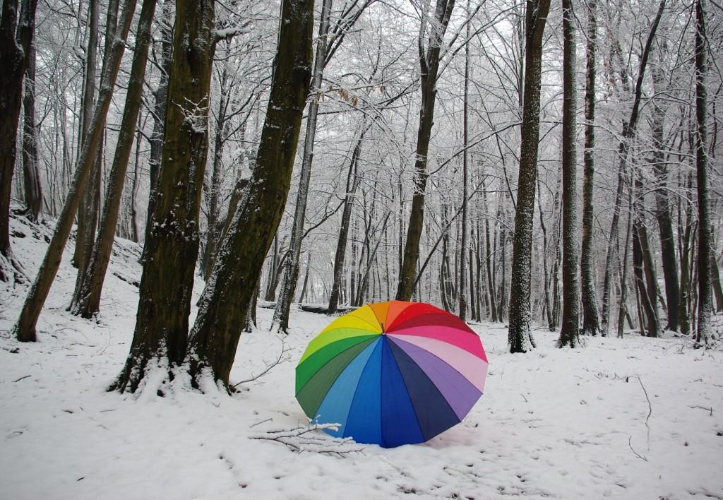 1. Duhový deštník